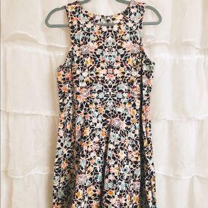 Geometric cotton summer dress